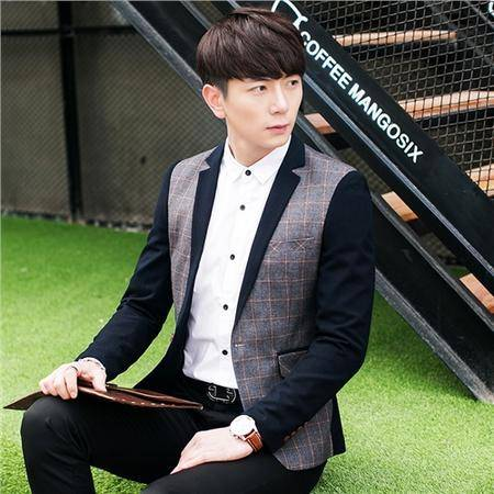 mssefn2016秋季新款男士韩版单西外套休闲小西服