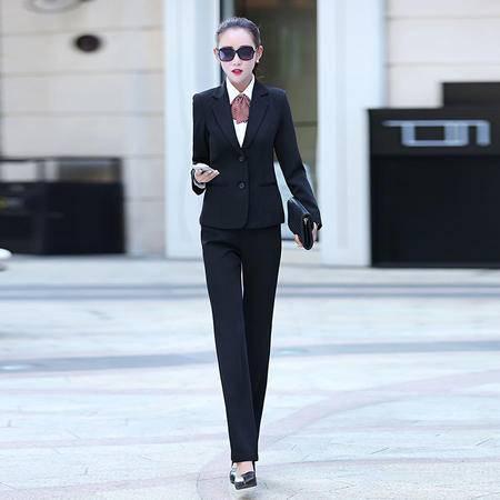 2016秋季女装新款西装外套 长裤两件套干练气质职业套装73107P120