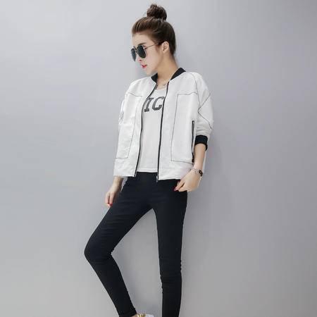 mssefn2016秋季韩版新款时尚显瘦甜美短外套