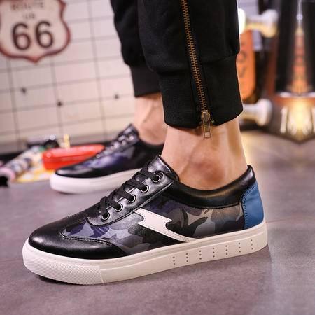 mssefn新款平底板鞋迷彩色B运动板鞋男低帮透气