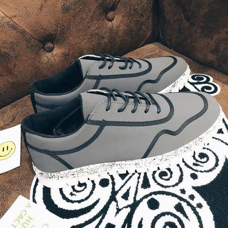 mssefn秋季新款港风低帮鞋线纹设计林弯弯休闲鞋青年韩版板鞋潮流