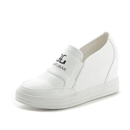 mssefn秋款 内增高 厚底 套脚 休闲 女单鞋