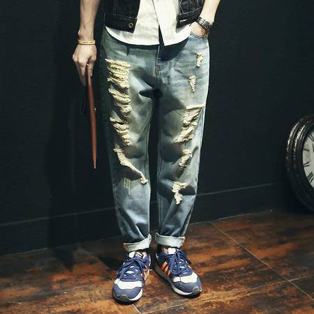 mssefn加大码日系牛仔裤