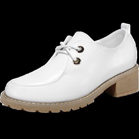 mssefn专柜正品 低帮鞋 粗跟圆头女休闲鞋