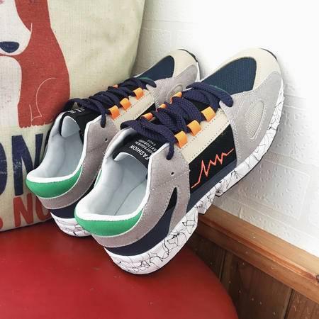 秋mssefn新款撞色运动鞋学生跑步鞋阿甘鞋休闲慢跑鞋青年港风潮鞋