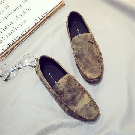 mssefn秋季擦色韩版豆豆鞋休闲鞋皮鞋男鞋