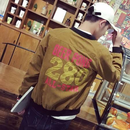 mssefn2016秋装新款 男士韩版修身青年印花棒球领夹克外套