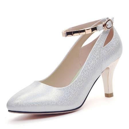 mssefn专柜正品 圆头浅口细高跟女鞋