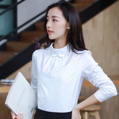 MSSEFN款2016里料纯色秋季长袖短款直筒修身衬衫