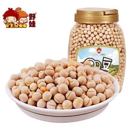 野娃】休闲零食品坚果炒货特产下酒菜办公小吃熟豌豆豆子600g罐