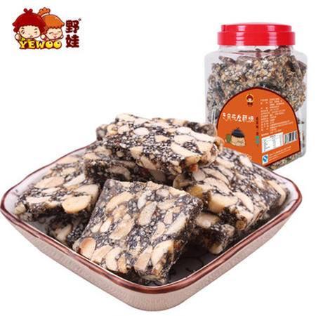 【野娃】传统糕点特产零食手工花生黑芝麻糖酥糖芝麻片1300g罐