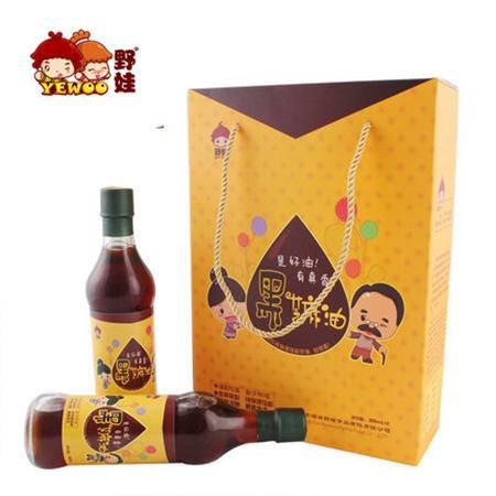 【野娃】农家芝麻油香油小磨调味油355ml*2瓶礼盒