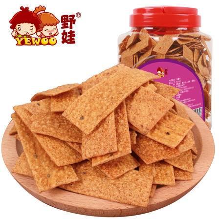 野娃休闲零食品山芋脆片原味粗粮红薯番薯片地瓜干片香薯片450g罐