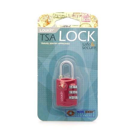 路尔新(Loukin) 出国出关检查必备 TSA密码行李锁  Ref:651(玫红色)