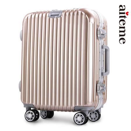 商务铝框密码拉杆箱万向轮女男行李登机箱韩版旅行箱26寸学生时尚潮流箱包箱子
