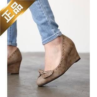 vivier shoes-坡跟韩版纯色高跟鞋 [6cm] 【包邮】【韩国正品】