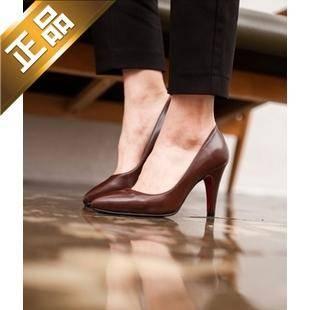 vivier shoes-细高跟尖头纯色高跟鞋【包邮】【韩国正品】