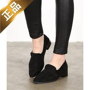 vivier shoes-尖头纯色韩版方根高跟鞋[4cm]【包邮】【韩国正品】