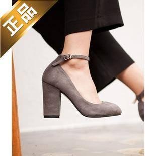 vivier shoes-粗高跟韩版纯色高跟鞋 [9cm]【包邮】【韩国正品】