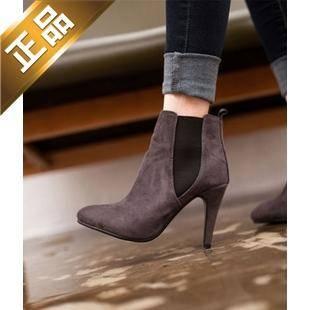 vivier shoes-细高跟韩版配色靴子 [9.5cm]【包邮】【韩国正品】