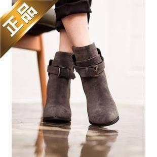 vivier shoes-纯色细高跟韩版靴子 [9cm]【包邮】【韩国正品】