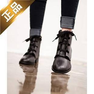 vivier shoes-纯色侧拉链方根靴子 [3cm]【包邮】【进口正品】