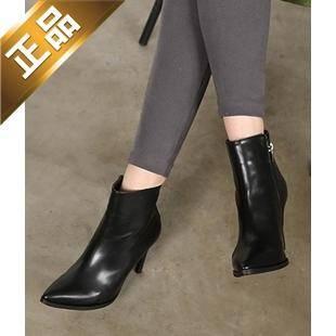 vivier shoes-侧拉链尖头细高跟靴子 [9cm]【包邮】【韩国正品】