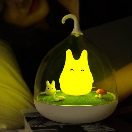 闪迪家居 创意奇幻精灵振动感应小夜灯 usb充电台灯氛围灯节能灯