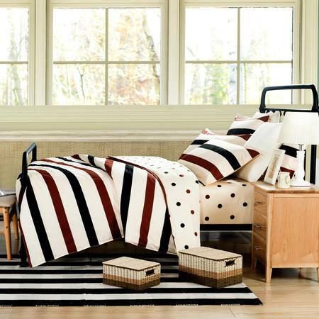 纯棉喷气印花四件套 全棉床上用品四件套床单被套 QBH