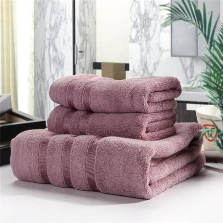佩玉家纺 超软棉竹纤维 超柔面料浴巾毛巾三件套 墨竹BH