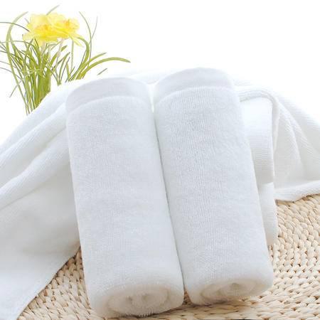 佩玉家纺  酒店 居家全棉 毛巾 纯白色活动款2条