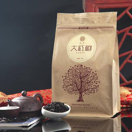 花一堂2015新茶清香型大红袍  袋装300g包邮