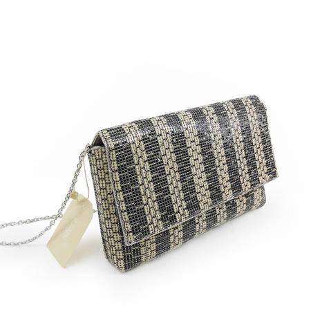 Sfera外贸原单正品撞色条纹铝片亮片手拿单肩斜挎女包手机包链条