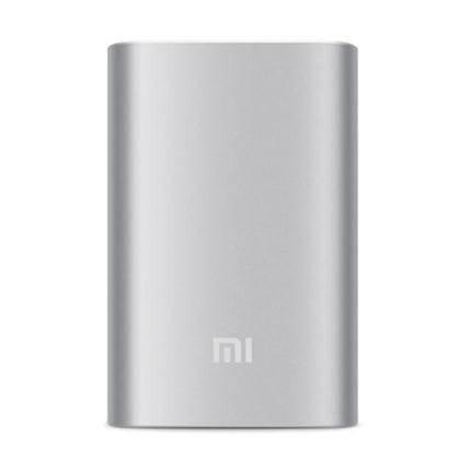 小米10000充电宝 手机平板通用迷你移动电源毫安大容量 银色