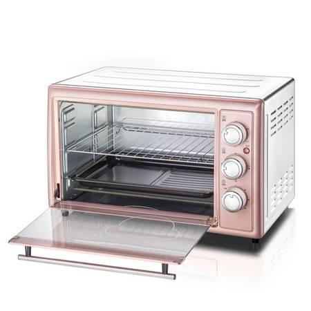 小熊/BEAR )粉色电烤箱家用30L 多功能电烤箱DKX-B30N1 上下管独立控温