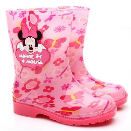 Disney/迪士尼儿童雨鞋 男女童卡通防滑雨靴 加厚时尚学生雨水鞋