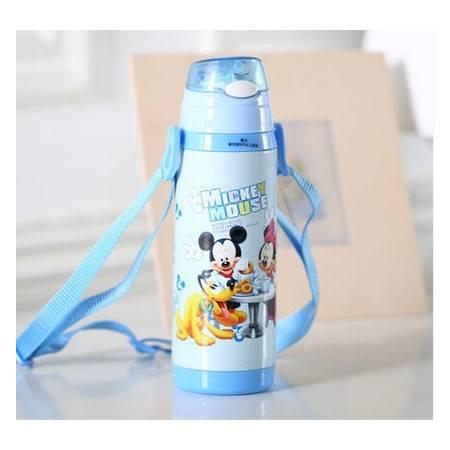 迪士尼防漏运动水壶男女生保温杯450ml不锈钢软吸管