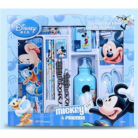 迪士尼豪华礼盒米奇米妮多功能礼品笔盒水壶削笔机文具套装