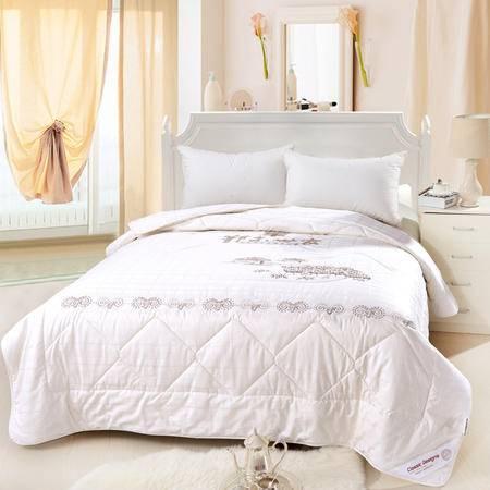 欧莱罗 精品全棉缎格羊绒被冬暖被 双人冬被子被芯 高档礼品包装