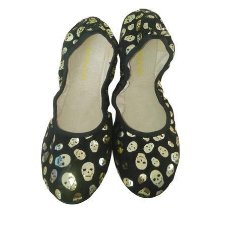Brownstone 波浪 女士纺织面料街拍新秀帅气骷髅头图案蛋卷鞋420W002K