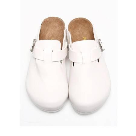 Brownstone 波浪 女士牛反绒包头时尚软木拖鞋J-013W