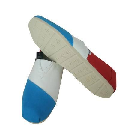 Brownstone 波浪 男士蓝白色清爽休闲系列撞色帆布鞋BX4-2004