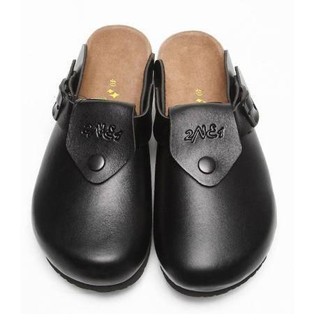 Brownstone 波浪 男士牛反绒包头时尚舒适软木拖鞋J-015M