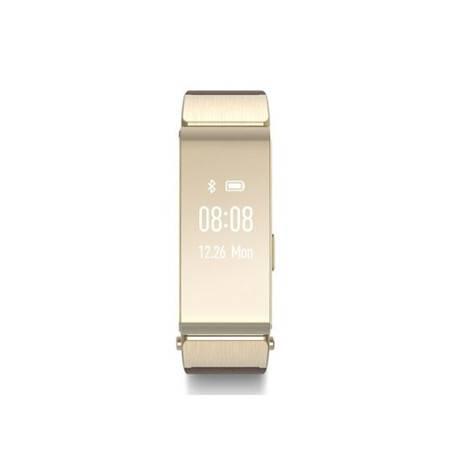 华为手环B2蓝牙耳机与智能手环完美结合 支持安卓与苹果 金色(商务版)