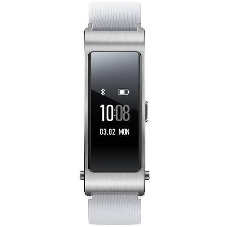 华为手环B3 (蓝牙耳机与智能手环结合+金属机身+触控屏幕+TPU腕带) 运动版