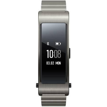 华为(HUAWEI)华为手环B3 (蓝牙耳机与智能手环结合+金属机身+触控屏幕+金属腕带) 时尚版