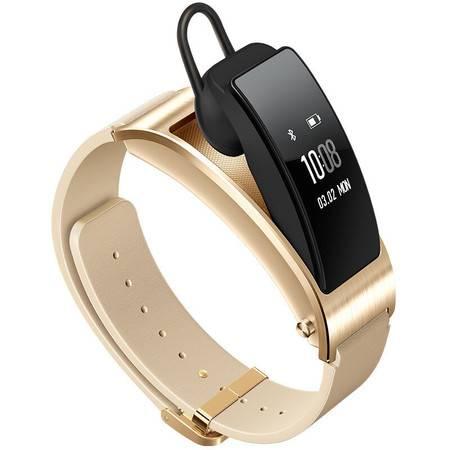 【华为HUAWEI】 华为手环B3 (蓝牙耳机与智能手环结合+金属机身+触控屏幕+真皮腕带) 商务版