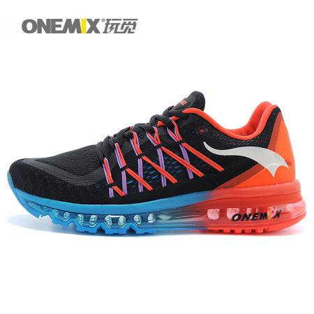 onemix玩觅 网面情侣运动鞋男女跑步鞋男透气airmax90 气垫鞋男女韩版1080