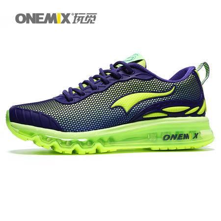 ONEMIX/玩觅 秋季跑步鞋男耐磨减震气垫鞋男时尚运动鞋女旅游鞋