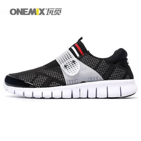 ONEMIX/玩觅 秋季新品跑步鞋男透气网面运动鞋减震休闲情侣慢跑鞋